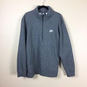 Nike Half Zip Pull over Gray XXL